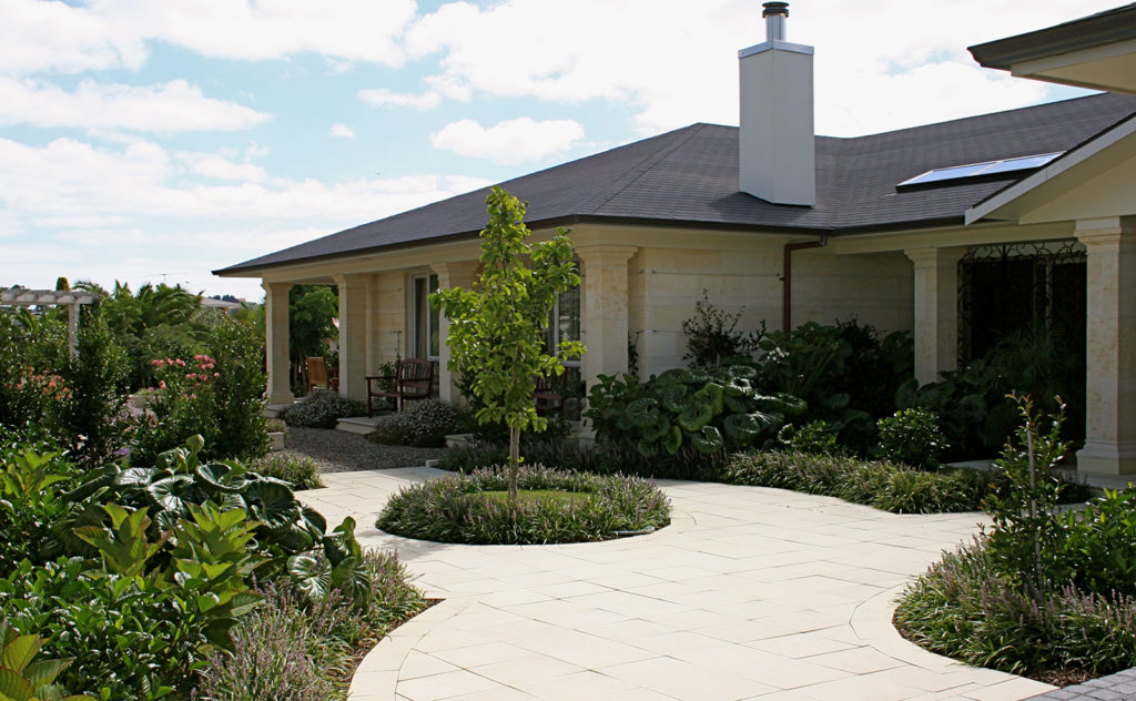 Landscaping of this residential property by Hawthorn Landscapes Kerikeri