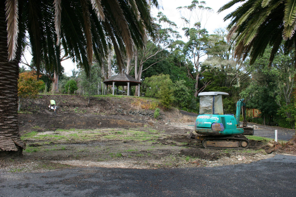 work begins on subtropical garden in northland