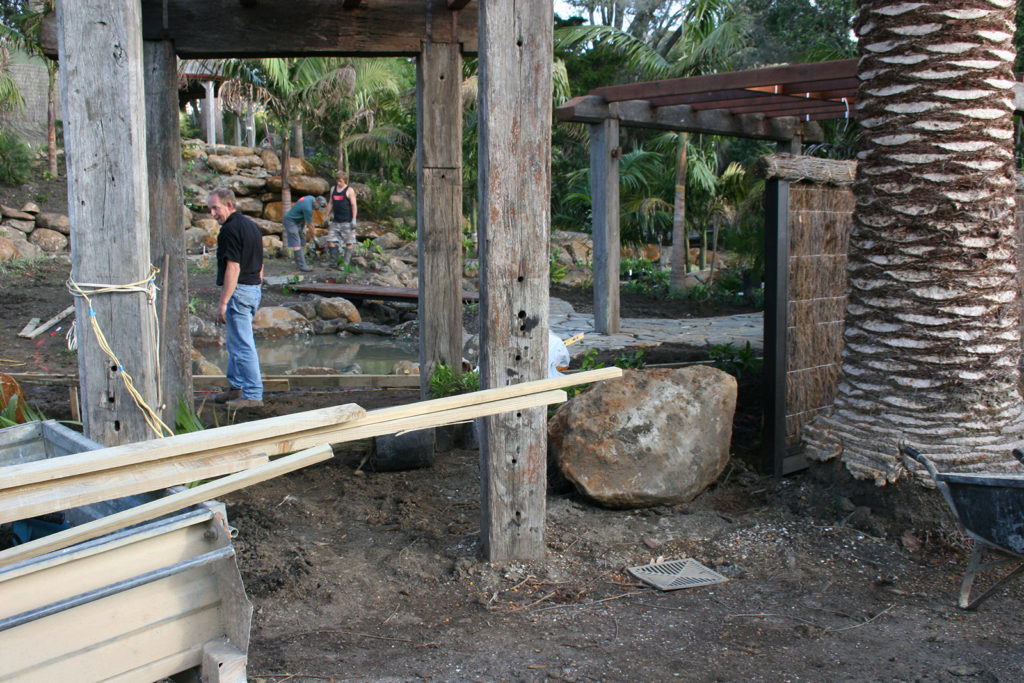 construction work begins of new subtropical garden coopers beach northland