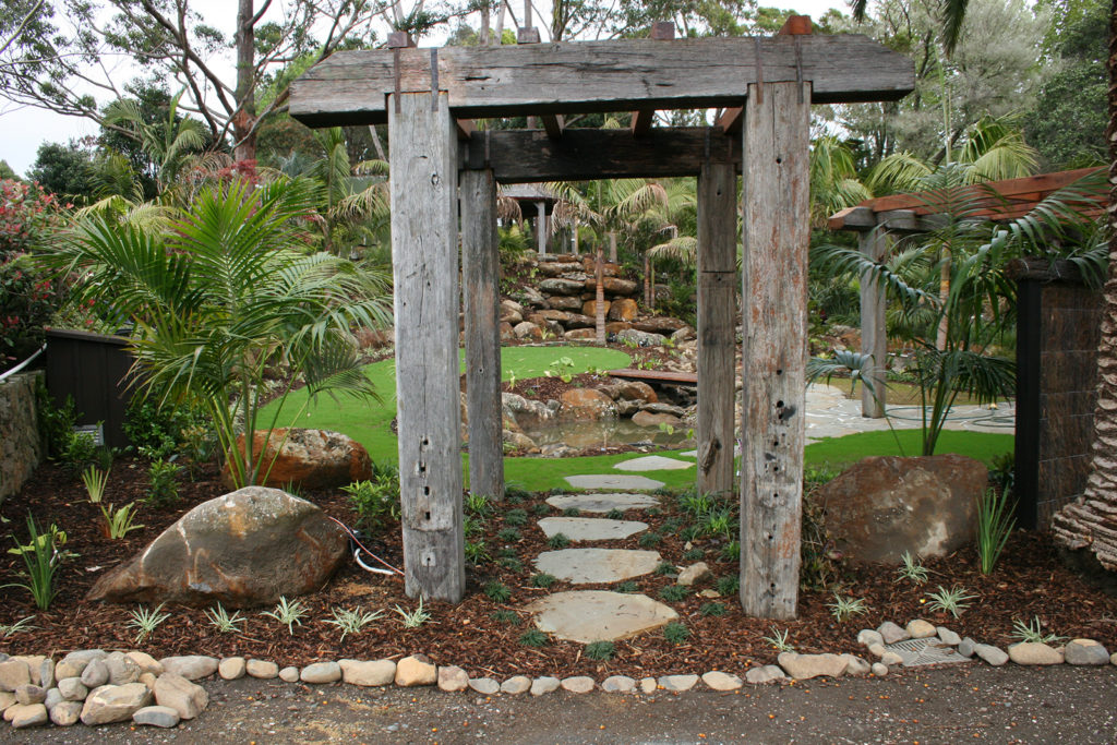 entranceway to the waterfall garden