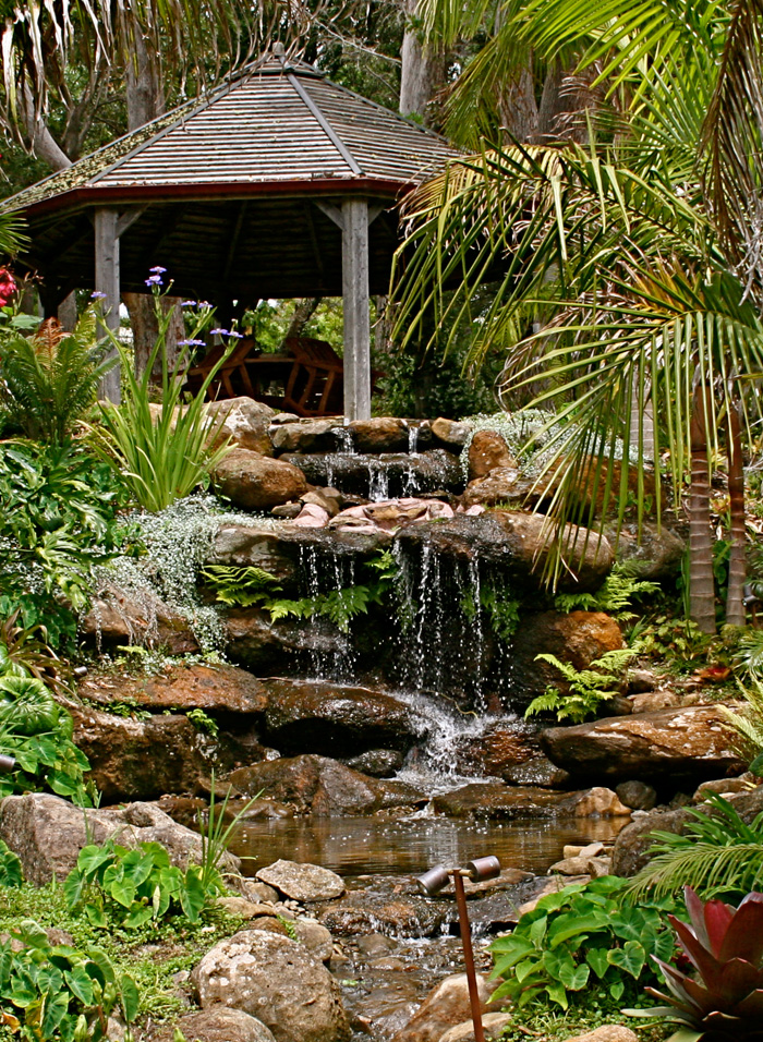 Water feature design by Hawthorn Landscapes Kerikeri