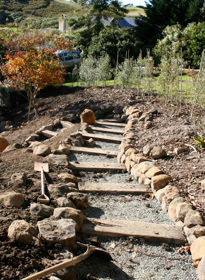 planting around the pathways